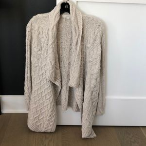 Loft cozy knit open sweater